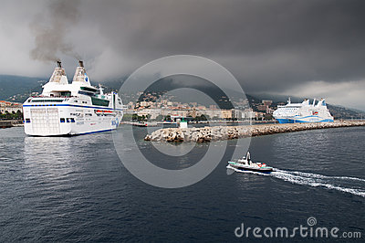 Ferry in Bastia Editorial Image