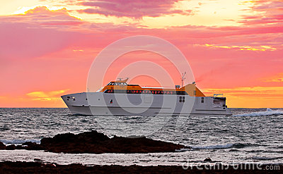 Ferry boat at dawn