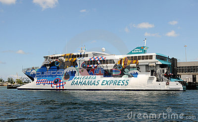 Ferry Boat Miami To The Bahamas Editorial Image Image