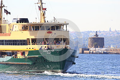 Ferry boat in Sydney harbour Editorial Photography