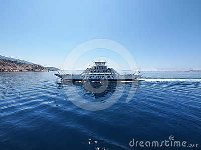 Ferry boat to Rab, Croatia Editorial Photo