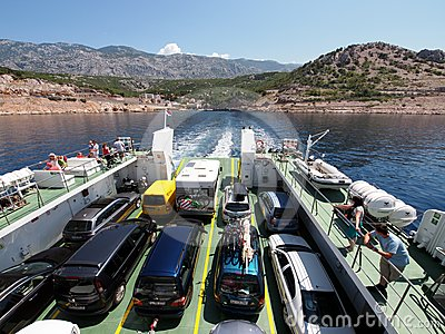 Ferry boat to Rab, Croatia Editorial Photography