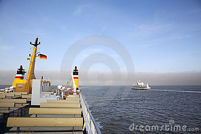 Ferry boats to the North Frisian islands