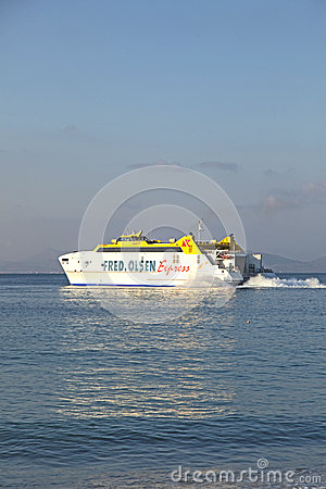 Free Ferry Bocayna Express From Fred Royalty Free Stock Photo - 36376725