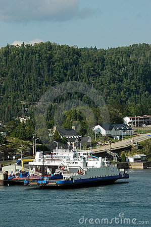 Free Ferry Docking At Sainte-Rose-du-Nord, Quebec Stock Photography - 292922