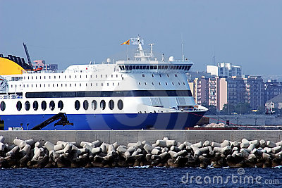 Ferry in the harbor