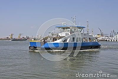 Ferry on Het IJ in Amsterdam the Netherlands