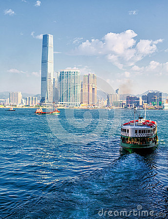 Free Ferry  Hong Kong Royalty Free Stock Images - 66688989