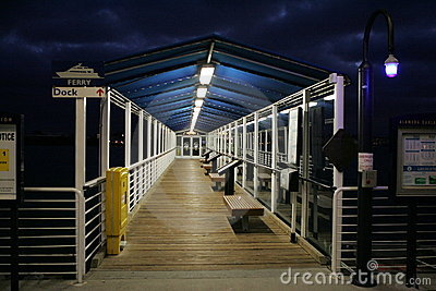 Ferry Jetty at Night