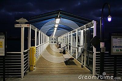 Ferry Jetty at Night