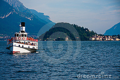 Ferry on lake Como Editorial Image