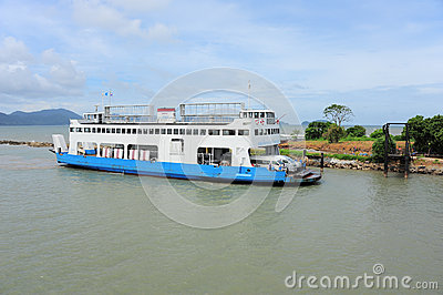 Ferry Service for Chang Island travelling Editorial Stock Photo