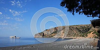 Ferry at Sougia, Crete