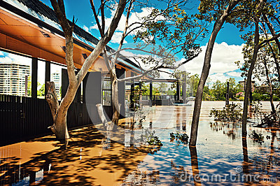 Ferry terminal at West End, Brisbane Editorial Image