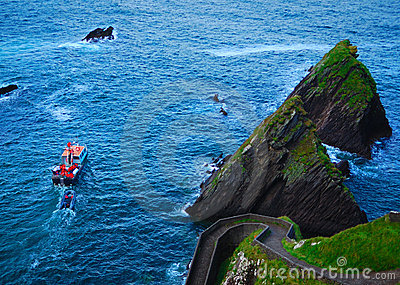 Ferry tour, dunquin pier, kerry, ireland