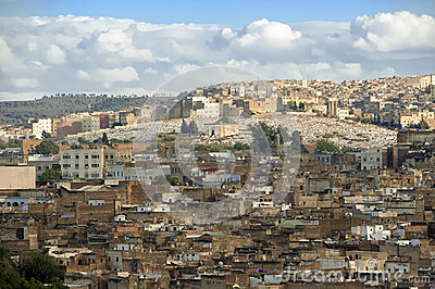 Fes with cemetery - Morocco