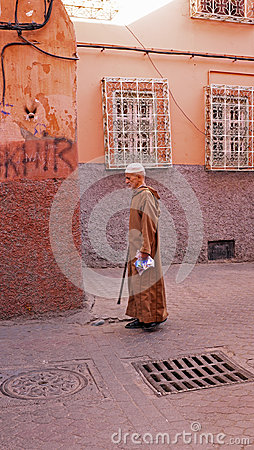 FES, MAROCCO - October 22, 2013 : Man beautifully dressed up on Editorial Photo