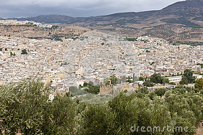 Fes old city with cemetery - Morocco