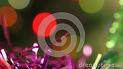 festão do ouropel da Natal-árvore vídeos de arquivo