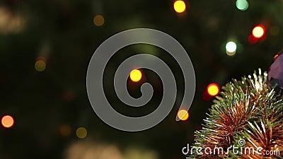 festão do ouropel da Natal-árvore filme