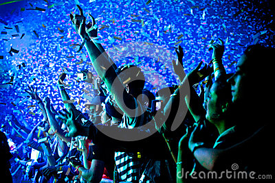 Festival Crowd Hands Up Editorial Image