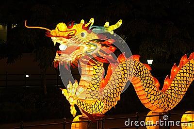 Festival di lanterna a Singapore, drago