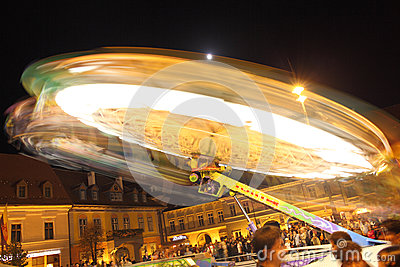 Festival ferris wheels in Sibiu at CibinFest Editorial Photo