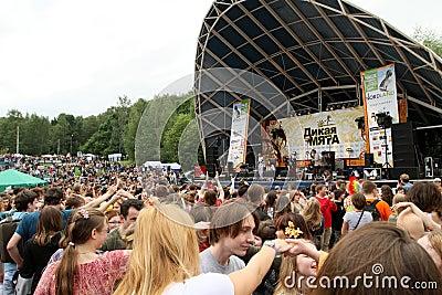 Festival of folk music Wild Mint Editorial Stock Image