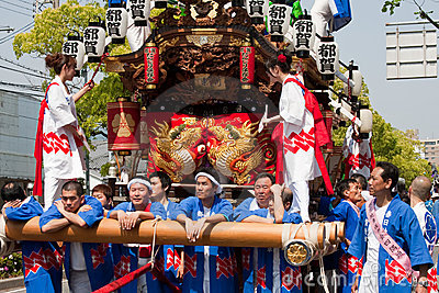 Festival giapponese Fotografia Editoriale
