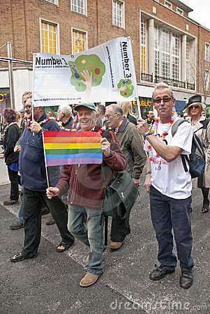 Festival goers from Number 3 LGBT Support Group Editorial Photography