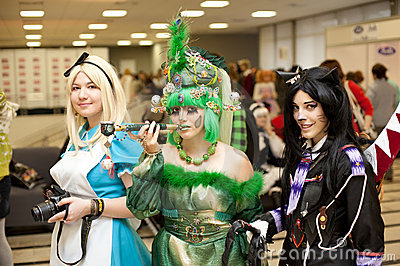 Festival of Japanese Pop Culture in Moscow 2010 Editorial Image