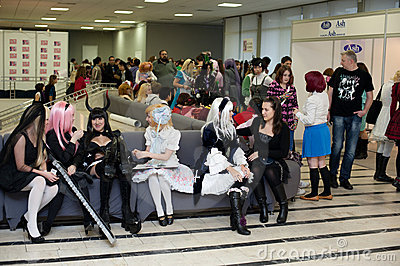 Festival of Japanese Pop Culture in Moscow 2010 Editorial Photo