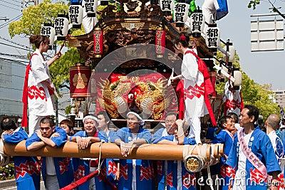 Festival japonês Foto Editorial
