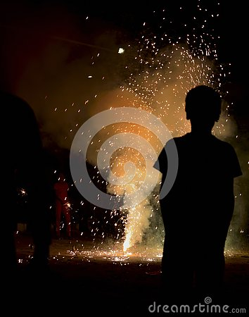 Free Festival Of Lights In India - Diwali Fireworks Royalty Free Stock Photography - 135294817