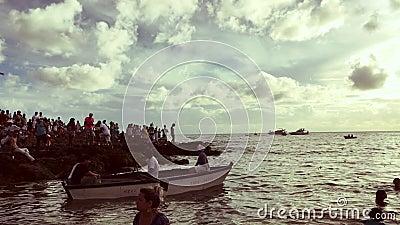 Festival van Yemanja Salvador Bahia Brazil stock footage