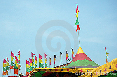 Festival-Zelt-Oberseiten