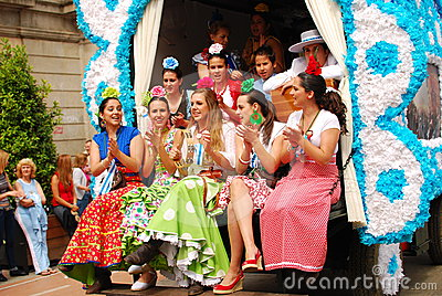 Festivals - The El Rocio Pilgrimage Editorial Photo