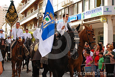 Festivals - The El Rocio Pilgrimage Editorial Stock Photo