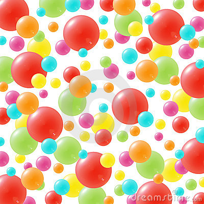 Festive background with brightly colored balloons