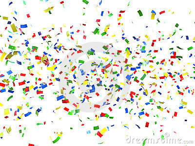 Festive Background Of Confetti Royalty Free Stock Photography - Image ...