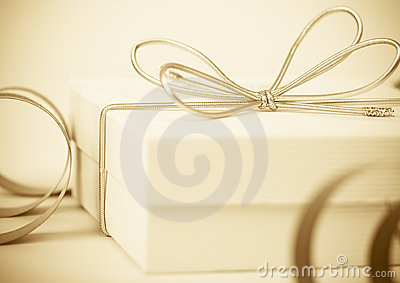 Festive background with gift