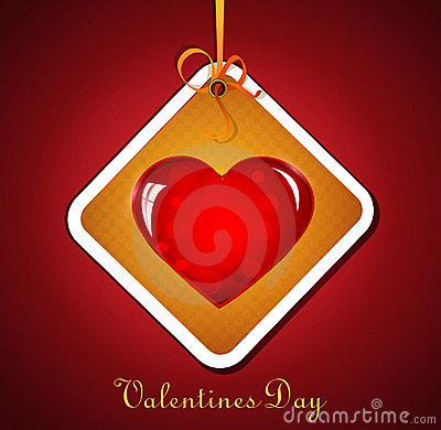 Festive background with hanging heart