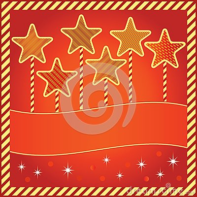 Festive background with stars and space for text