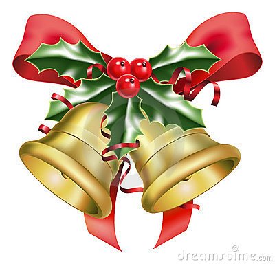 Free Festive Bells And Bows Royalty Free Stock Photo - 16484735