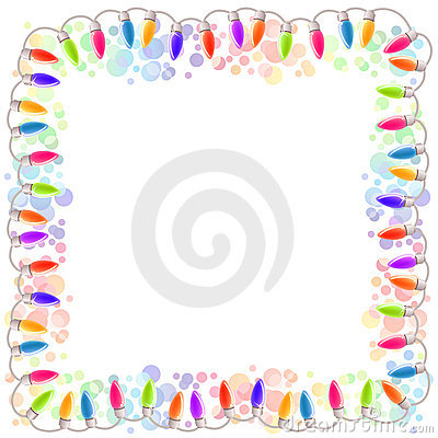 Festive blank frame with garland