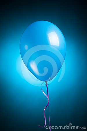 Festive blue balloon
