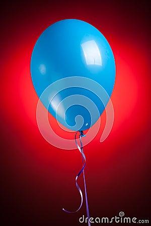 Festive blue balloon