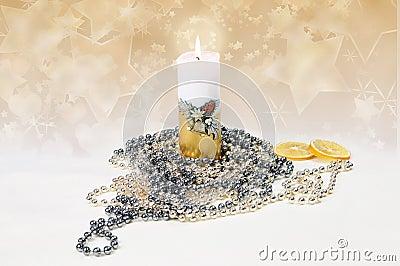 Festive candle
