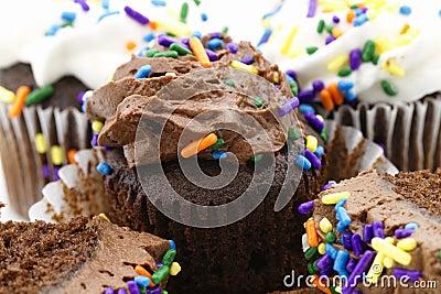 Festive Chocolate Cupcakes