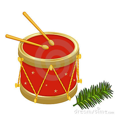 Festive Christmas drums